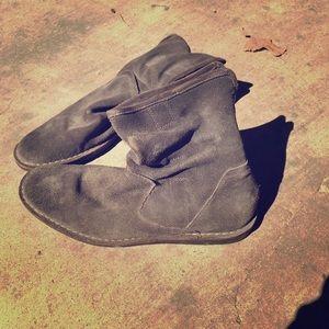 John Varvatos suede zip slouch boots